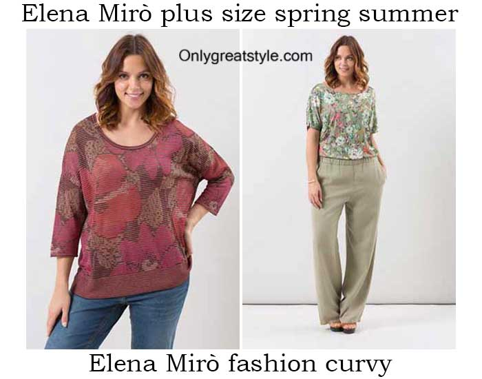 Elena Mirò plus size spring summer 2016 for women