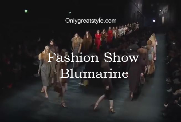 Blumarine fashion show fall winter 2016 2017 for women