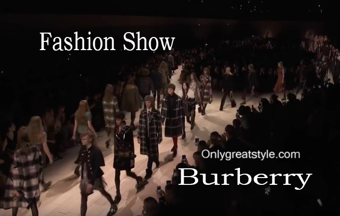 Burberry fashion show fall winter 2016 2017 for women
