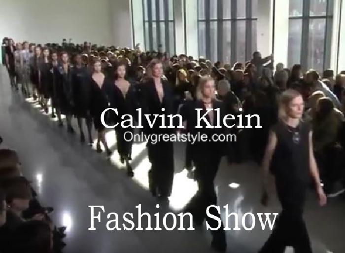 Calvin Klein fashion show fall winter 2016 2017 for women