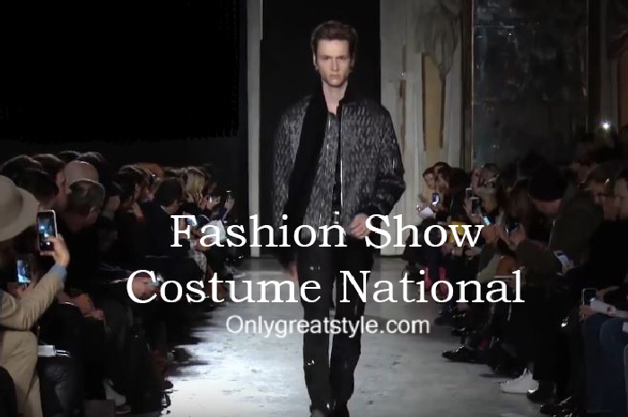 Costume National fashion show fall winter 2016 2017 for men