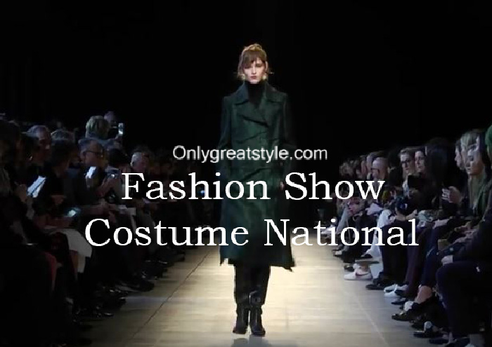 Costume National fashion show fall winter 2016 2017 for women