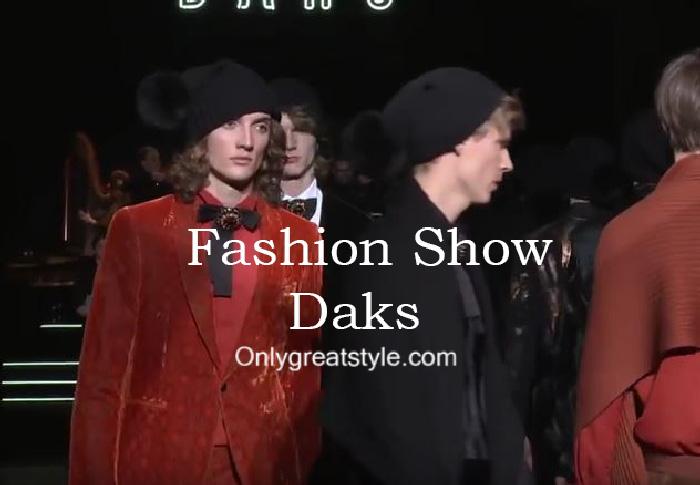 Daks fashion show fall winter 2016 2017 for men