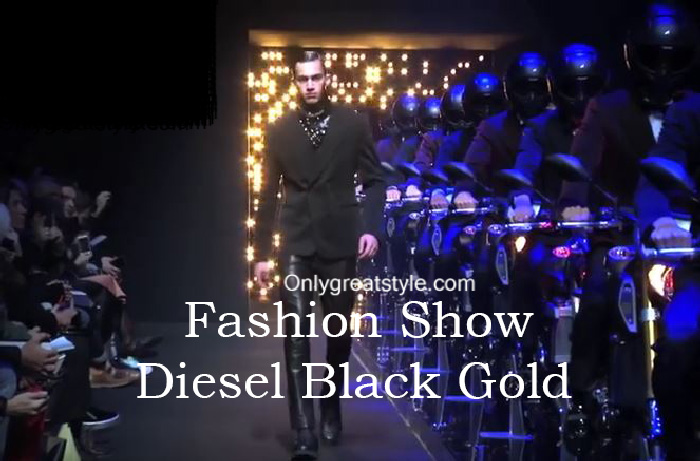 Diesel Black Gold fashion show fall winter 2016 2017 for men