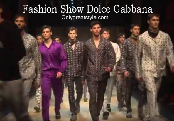 Dolce Gabbana fashion show fall winter 2016 2017 for men
