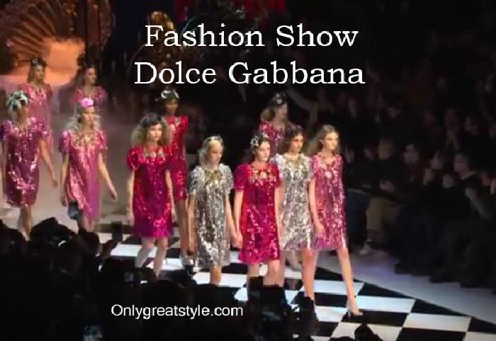 Dolce Gabbana fashion show fall winter 2016 2017 for women