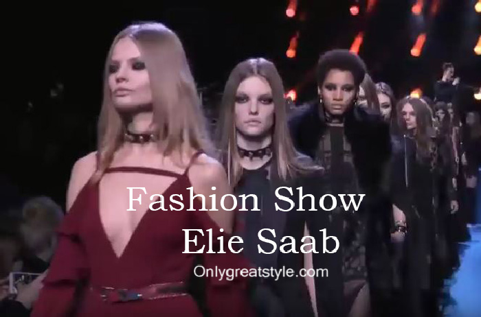 Elie Saab fashion show fall winter 2016 2017 for women