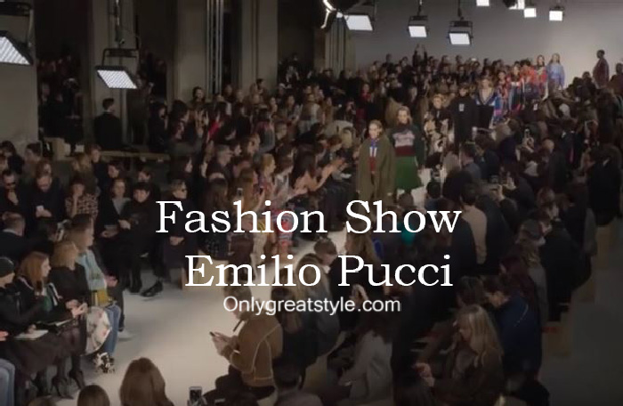 Emilio Pucci fashion show fall winter 2016 2017 for women