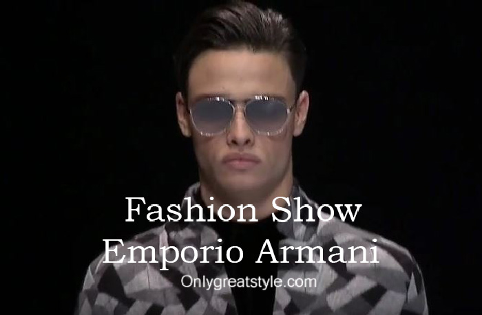 Emporio Armani fashion show fall winter 2016 2017 for men