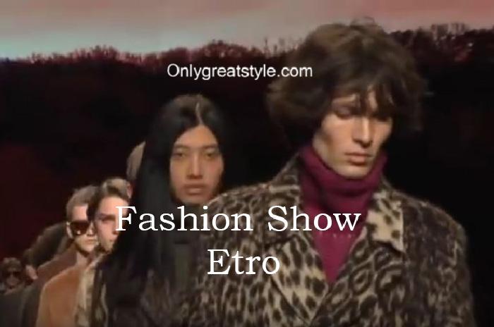 Etro fashion show fall winter 2016 2017 for men