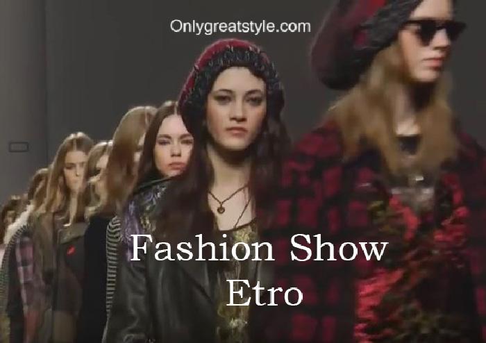 Etro fashion show fall winter 2016 2017 for women
