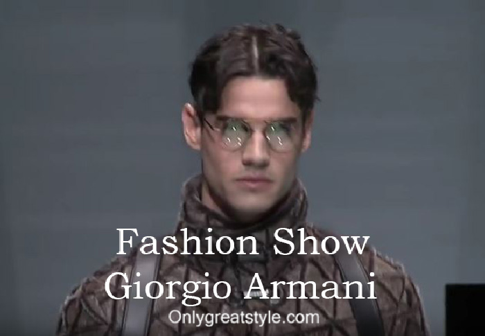 Giorgio Armani fashion show fall winter 2016 2017 for men