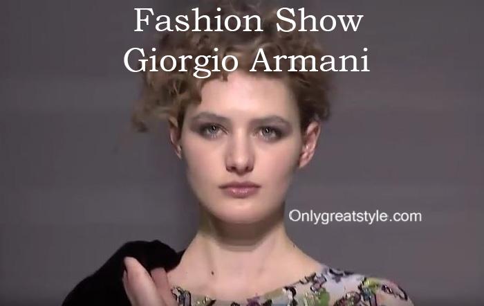 Giorgio Armani fashion show fall winter 2016 2017 for women