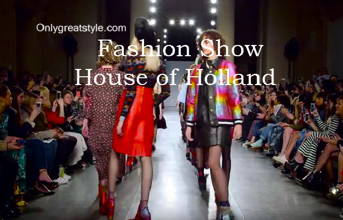 House of Holland fashion show fall winter 2016 2017 for women