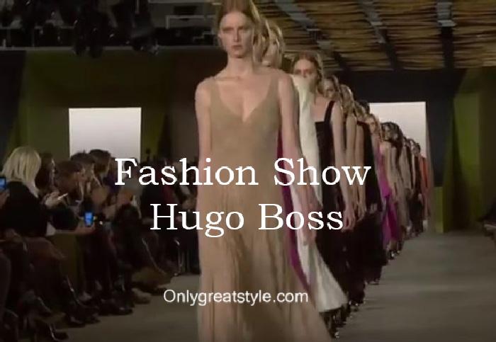 Hugo Boss fashion show fall winter 2016 2017 for women