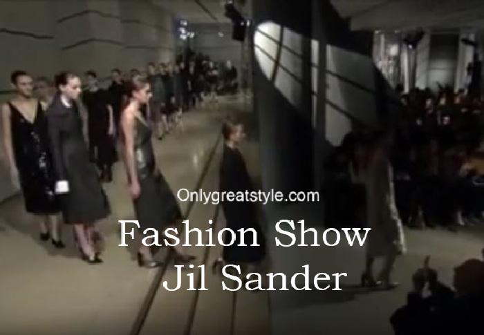 Jil Sander fashion show fall winter 2016 2017 for women