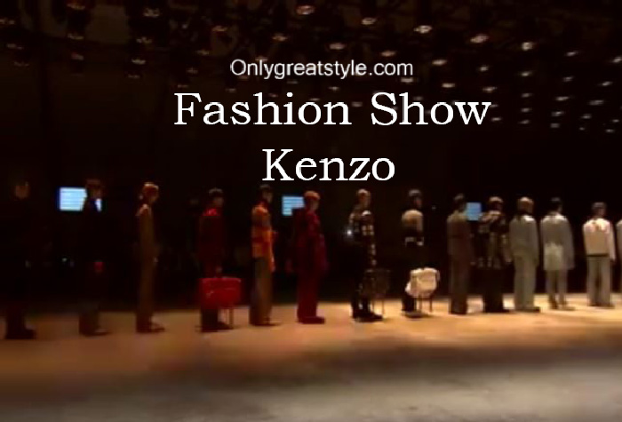 Kenzo fashion show fall winter 2016 2017 for men