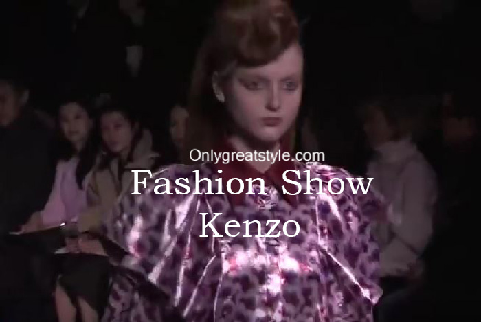 Kenzo fashion show fall winter 2016 2017 for women