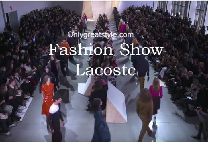 Lacoste fashion show fall winter 2016 2017