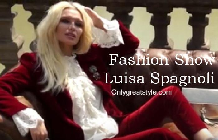 Luisa Spagnoli fashion show fall winter 2016 2017 for women