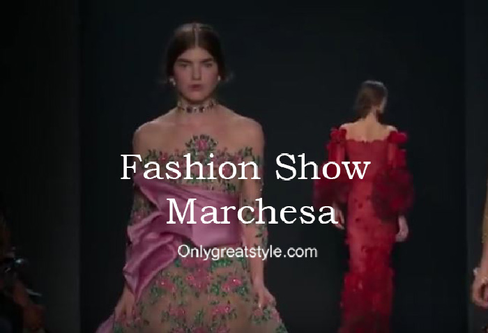 Marchesa fashion show fall winter 2016 2017 for women
