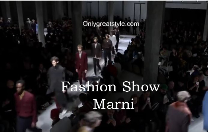 Marni fashion show fall winter 2016 2017 for men