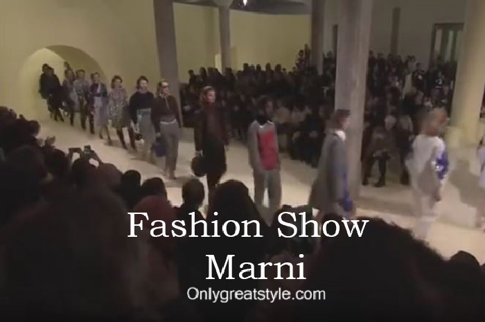 Marni fashion show fall winter 2016 2017 for women