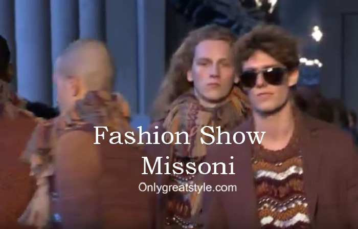 Missoni fashion show fall winter 2016 2017 for men