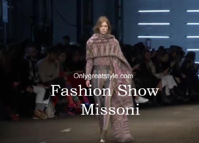 Missoni fashion show fall winter 2016 2017 for women