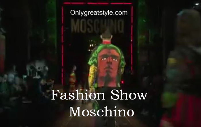 Moschino fashion show fall winter 2016 2017 for men