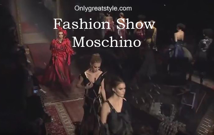 Moschino fashion show fall winter 2016 2017 for women
