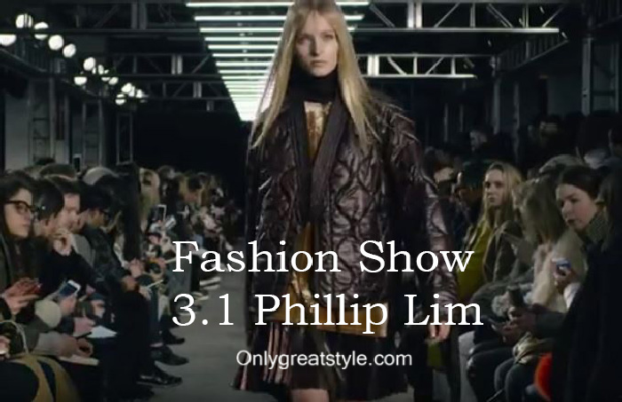 3.1 Phillip Lim fashion show fall winter 2016 2017 for women
