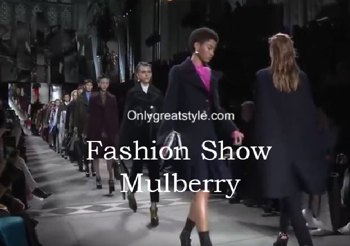 Mulberry fashion show fall winter 2016 2017 for women