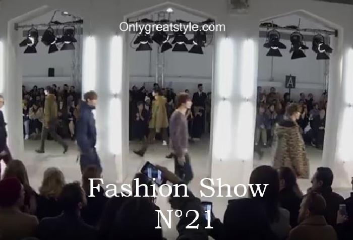 N°21 fashion show fall winter 2016 2017 for men