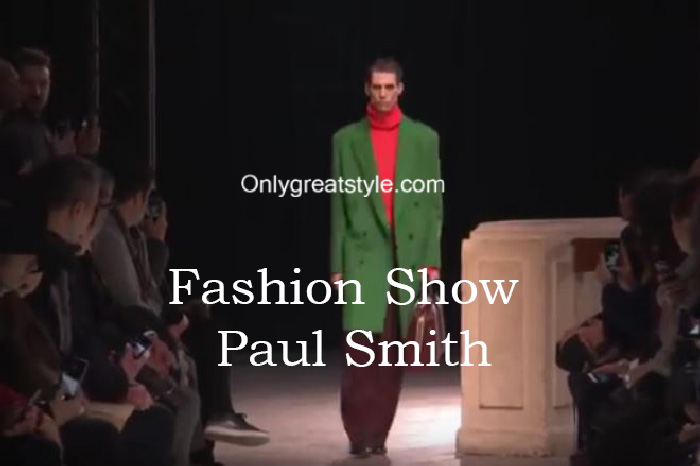 Paul Smith fashion show fall winter 2016 2017 for men