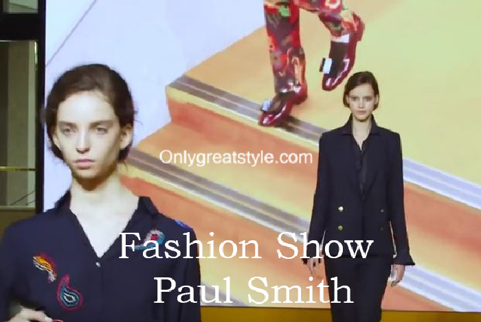 Paul Smith fashion show fall winter 2016 2017 for women