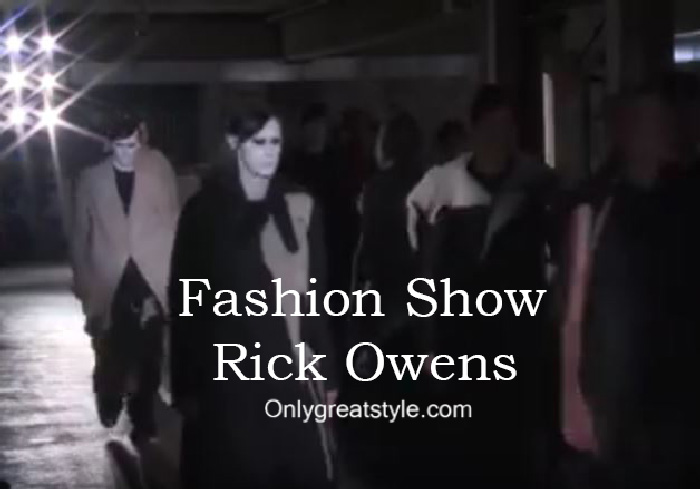 Rick Owens fashion show fall winter 2016 2017 for men