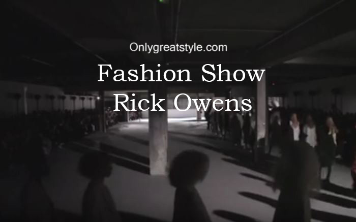 Rick Owens fashion show fall winter 2016 2017 for women