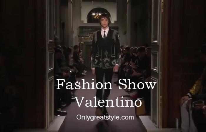 Valentino fashion show fall winter 2016 2017 for men