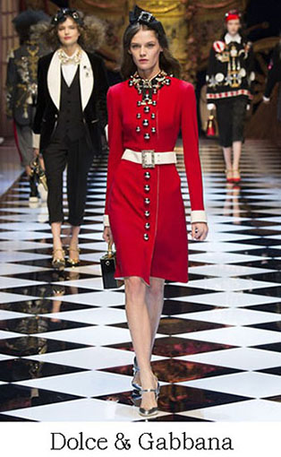 Brand Dolce Gabbana Style Fall Winter 2015 2016 Look 14
