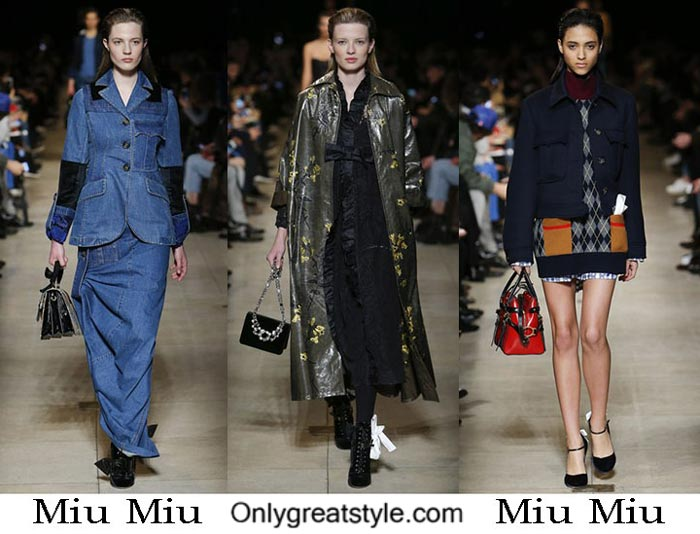 Miu Miu Fall Winter 2016 2017 Fashion Clothing For Women