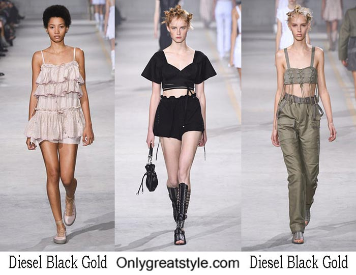 Diesel Black Gold spring summer 2017 fashion show women