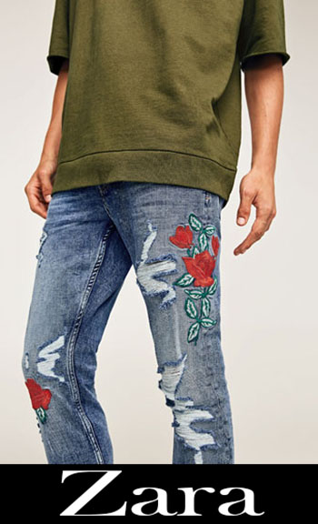 Zara Embroidered Jeans Fall Winter Men 2