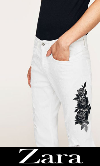 Zara Embroidered Jeans Fall Winter Men 3