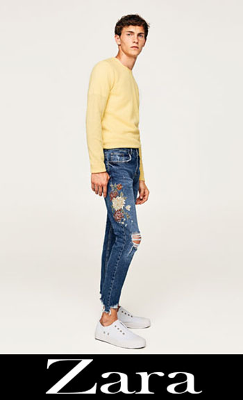 Zara Embroidered Jeans Fall Winter Men 5