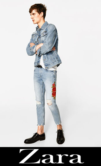 Zara Embroidered Jeans Fall Winter Men 7