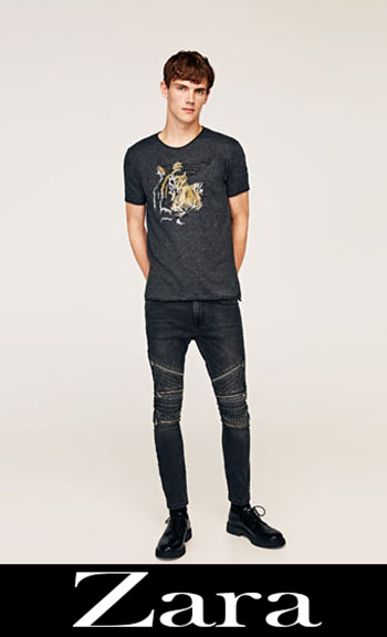 Zara Embroidered Jeans Fall Winter Men 8