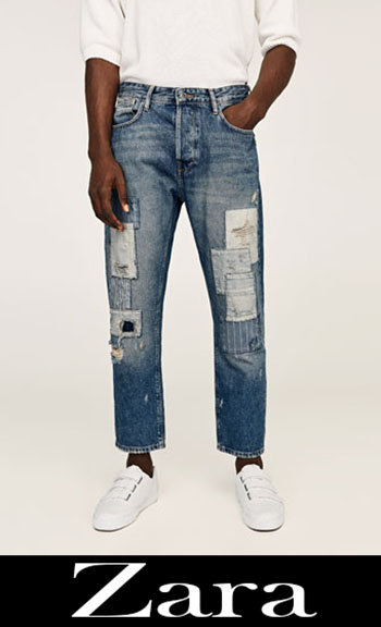 Zara Embroidered Jeans Fall Winter Men 9
