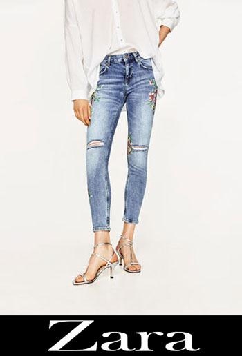 Zara Embroidered Jeans Fall Winter Women 1