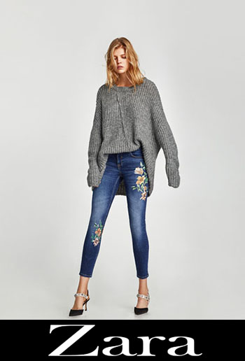 Zara Embroidered Jeans Fall Winter Women 2